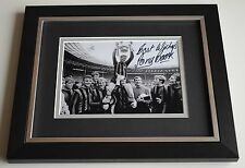 Tony Book SIGNED 10X8 FRAMED Photo Autograph Manchester City Display AFTAL & COA