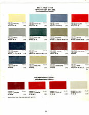 1955 1956 1957-1969 VOLKSWAGEN BUS BEETLE KARMANN GHIA PAINT CHIPS 5961 62DUPONT