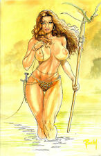 CAVEWOMAN DEADLY VENOM #1 BUDD ROOT Special Edition NUDE Cover Nice! NM New