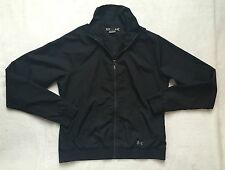 Women's Under Armour Semi Fitted Black Sport Full zip Jacket sz M Medium