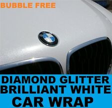 Diamond Brilliant White Car Wrap 1.52 x 10 Meters - Bubble Free Vinyl Glitter