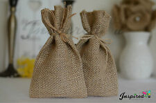 Sample favour bags hessian burlap Rustic wedding Decoration