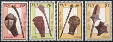 Fiji 1986 SG#747-750 Ancient War Clubs MNH Set #A87154