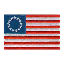 "AMERICAN BEST USA BETSY ROSS FLAG US EMBROIDERED PATCH IRON-ON EMBLEM SIZE 3""x2"""