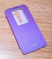 Genuine LG Quick Window Flip Cover Purple Folio Case For LG G2 Cell Phone