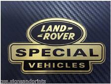 X1 52x30mm GOLD LAND ROVER DEFENDER DISCOVERY SPECIAL VEHICLES DECAL STICKER