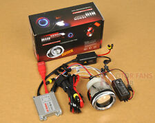 Neuf Moto Motocycle BI-Xénon HID KIT Angel Eye Projecteur Lens Slim Ballast