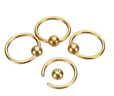 5pcs Captive Bead Ring Ball Hoop Eyebrow Nipple Nose Lip Earrings Body Piercing