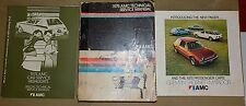 1975 AMC Tech Service Manual Set +Brochure_ORIG_Matador X/Gremlin X +401/Hornet