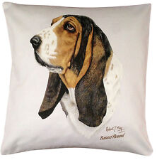 Basset Hound RM Breed of Dog Themed Cotton Cushion Cover - Perfect Gift