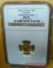 2000 1/20oz mirrored ring gold panda coin NGC MS69