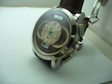 PAUL PICOT STEEL CHRONOGRAPH TECHNOGRAPH ! NEW - SPECIAL DIAL! B&P