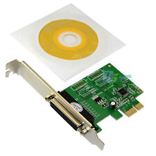 Parallel DB25 Printer Port to PCI-E PCI Express Card Adapter Low Profile Bracket