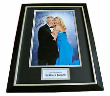 SIR BRUCE FORSYTH HAND SIGNED & FRAMED AUTOGRAPH PHOTO DISPLAY STRICTLY GIFT COA