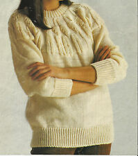 Machine Knit pattern by Maggie Andrews. Ladies yoked sweater..