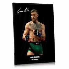"Conor Mcgregor UFC canvas tribute signed Framed 12"" x 16"" ""Great Gift /Souvenir"""