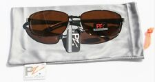 PZ Rectangle Polarized Sunglasses Aluminum Fishing BRN