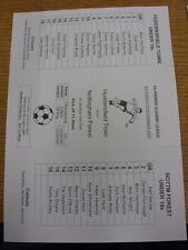 03/11/2007 Huddersfield Town Youth v Nottingham Forest Youth [At Huddersfield Un