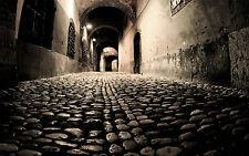 Gran impresión enmarcado-siniestro adoquín de vuelta calles de Londres (imagen Gótico Oscuro