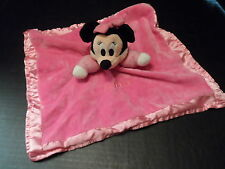 Disney Minnie Mouse Baby Girl Lovey Plush Security Blanket Crinkle Ears Rattle