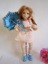 Annette Himstedt porcelain doll Tinchen with parasol. Ltd Ed. Amazing.
