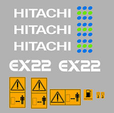HITACHI EX22 MINI ESCAVATORE YANMAR SERIE DECALCO