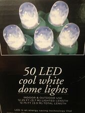 50 Cool White LED Dome Lights Christmas Lights Wedding Patio Lights