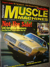 Ocy 2006 Hemmings Muscle Machines NOT FOR SALE 24 Original Owners & Thier Car