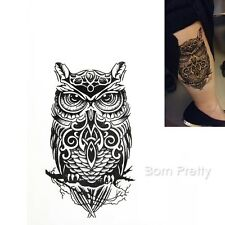 Waterproof Temporary Tattoo Sticker Owl Body Art Decal Tatouage Temporaire Hibou