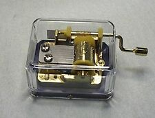 Hand Crank Musical Gold plated Movements Parts DIY Music Box Canon
