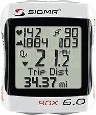 Sigma Sport ROX 6.0 Cyclocomputer, White NIB - Cadence Sensor not included