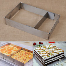 Adjustable Scalable Rectangle Stainless Steel Mousse Cake Mold Ring Baking Tools