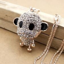 New design gold plating Crystal monkey sweater chain long necklace HH331