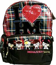 NWT HARAJUKU Lovers BACKPACK LAMB Gwen NERD PLAID