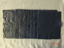 Scrap Leather Genuine cowhide Navy Blue 10x12 inches 10 Pieces New