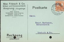 ANSPRUNG, Postkarte 1916, Max Fritzsch & Co. Möbel-Holzwarenfabrik