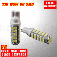 2x T10 W5W 501 68 SMD 5050 LED NO CANBUS CAR SIDE LIGHT XENON WHITE LIGHT BULB