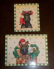 Magnet w/Mary Engelbreit Art Lot of 2 Scottie dogs