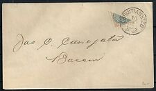 Danish West Indies 18?? YV 7a BISECTED cover Chritiansted