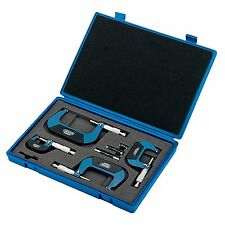 Draper Expert 4 Piece Metric External Micrometer Work Tool Set - 46607