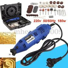 220V Electric Grinder Variable Speed Grinding Polisher Rotary Tool For Dremel