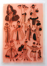 "Clear Stamps Sheet 7""x10"" ~ Vintage Fashion Belle Epoque FLONZ Rubber 403-128"