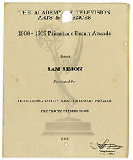 Emmy Nomination for ''The Tracey Ullman Show'' Sam Simon