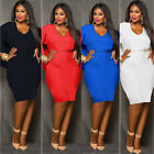 Sexy Womens Loose Casual Cocktail Evening Ball Prom Gown Party Plus Size Dress