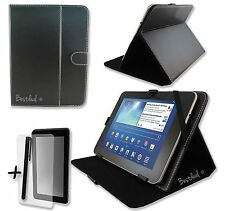 "NERO PU Pelle Custodia Stand Per Mediacom Smart Pad 7.0 7"" POLLICI TABLET PC"