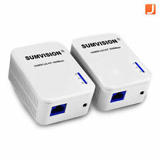 Sumvision Gigabit 1000Mbps Powerline Ethernet Adapter Starter Kit Homeplug Twin