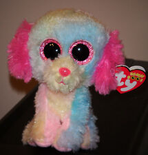 "Ty Beanie Boos ~ LOVESY 6"" Pastel Dog ~ 2014 Justice Exclus~ MINT with MINT TAGS"
