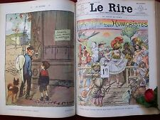 LE RIRE  ( RELIE ) 1908 ANNEE COMPLETE