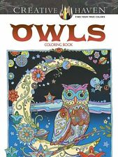 Creative Haven Owls Coloring Book (Adult Coloring) by Dover [507727] BRAND NEW