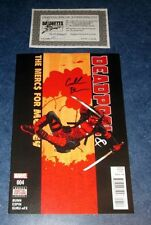 DEADPOOL & HIS MERCS FOR MONEY #4 signed 1st print CULLEN BUNN MARVEL COMIC COA